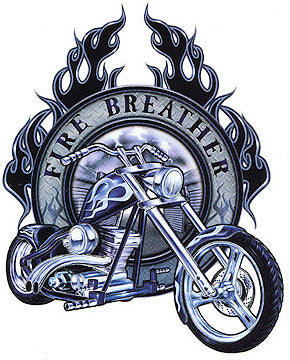 Fire Breather Chopper Bike Sticker