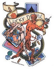 Lucky Devil Gambling Sticker