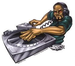 Spinning Scratch Records DJ Sticker