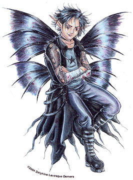 Goth Guy Black Fairy Sticker