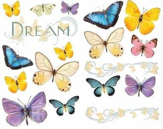 Sparkly Butterflies Stickers Scrapbooking Rub-ons