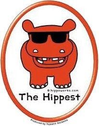 Hippo Hipster Hippy Sticker