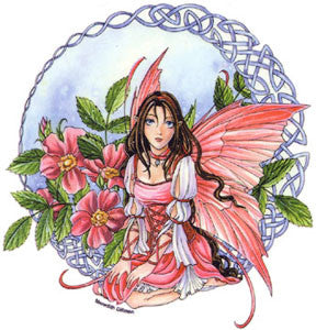 Celtic Wild Rose Fairy Sticker