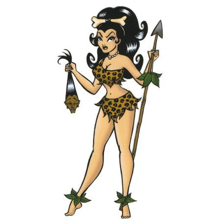 Voodoo Woman Jungle Girl Sticker