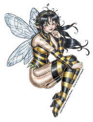 Honeybee Fairy Sticker