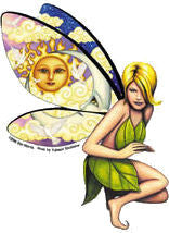 Claudia Moon Sun Fairy Sticker