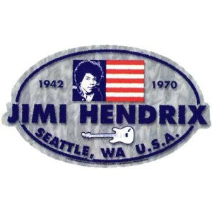 Jimi Hendrix Tribute Sticker