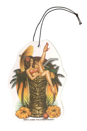 Tiki Girl Mirror Ornament