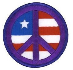 American Flag US Flag Peace Patch