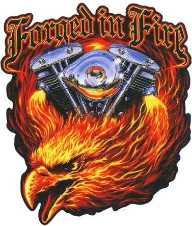Chrome Flames Wicked Fire Eagle Sticker