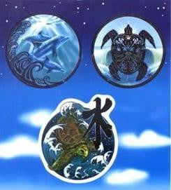 Tribal Turtles Dolphins Stickers Mini Pack
