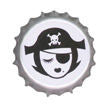 Retro Pirate Bottle Cap Button