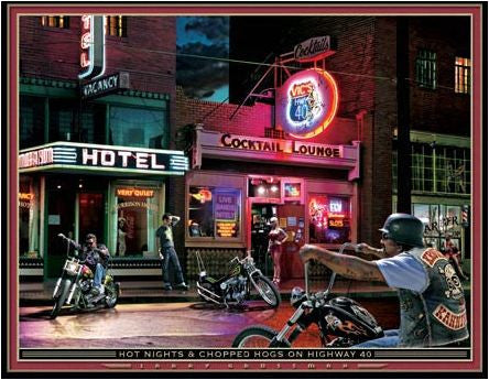 Grossman Art 'Hot Nights & Chopped Hogs' Novelty Sign