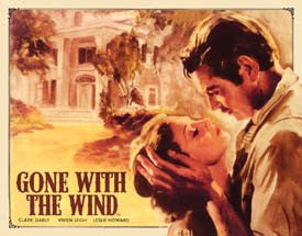 Gone with the Wind Movie Novelty Tin Sign
