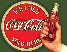 Novelty Ice Cold Coca-Cola Tin Sign