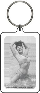 Bettie Page Pin-up Keychain