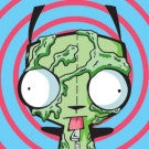 Square Invader Zim Bubble Splat Gir Button
