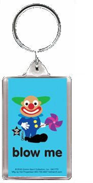 Salty the Rude Clown Blow Me Gag Gift Keychain