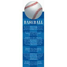 Baseball Bookmark