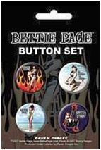 Bettie Page Pin-up Girl Buttons Set