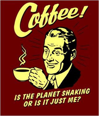 Retro Spoofs Coffee Sticker