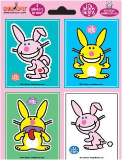 Happy Bunny Stickers Set