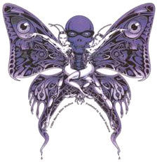 Art Deco Twin Butterfly Sticker