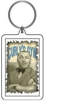 Curly's Gym Three Stooges Keychain