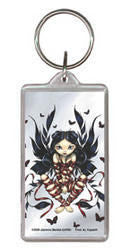 Gothic Red Ribbon Dark Fairy Keychain