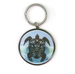 Tribal Sea Turtle Keychain