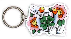 True Love Tattoo Keychain