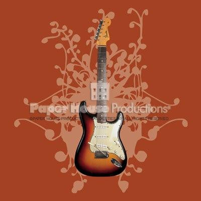Fender Guitar Blank Greeting Card / Magnet