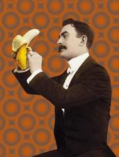 Banana Gentleman Greeting Card