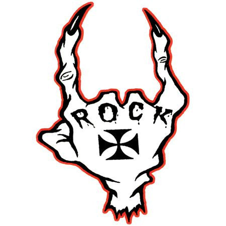 Wicked Sick Monster Gnarly Claw Rock Sticker