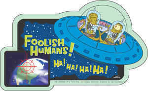 Destroy all Humans! Simpsons Aliens Sticker