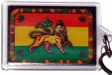 Lion of Judah Jamaica Flag Rasta Keychain