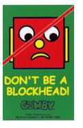 Don't be a Blockhead Keychain