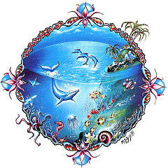 Tropical Marine Life Whale Sticker