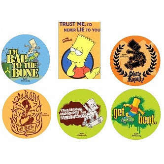 Bart Simpson Keychain Buttons Collection
