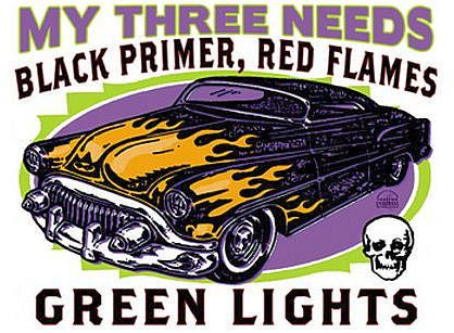 Lead Sled Hot Rod Sticker