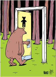 Bear in the Woods Funny Bear Magnet