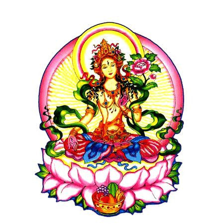White Tara Goddess Sticker