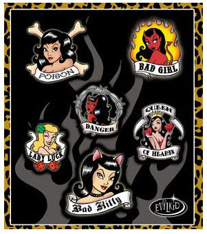 Hot Rod Rockabilly Mini Stickers