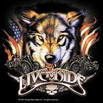 American Heritage Wolf Live to Ride Sticker