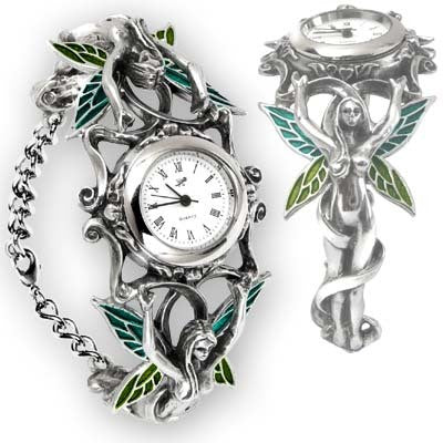 Ornate Pewter Artemesia Fairy Watch