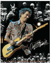 Keith Richards Rolling Stones Sticker