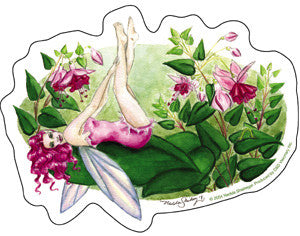 Magenta Fuchsia Flowers Fairy Sticker by #1