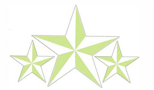Large Tattoo Sailor Nautical Stars Window Sticker