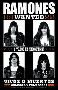 The Ramones Most Wanted Sticker Vivos O Muertos
