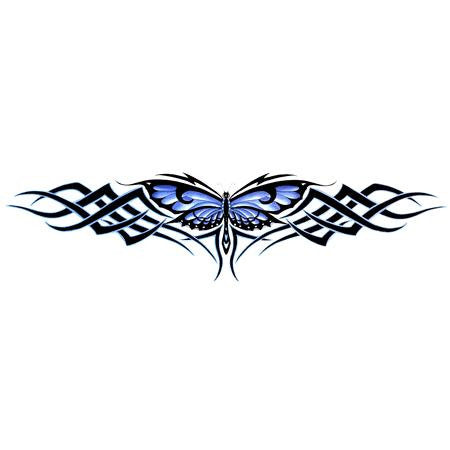 Large Tribal Weave Butterfly Purple Sticker